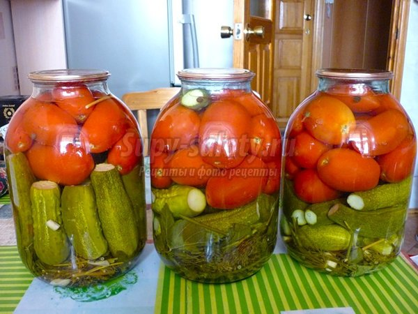 маринованные огурцы и помидоры: лучшие рецепты с фото