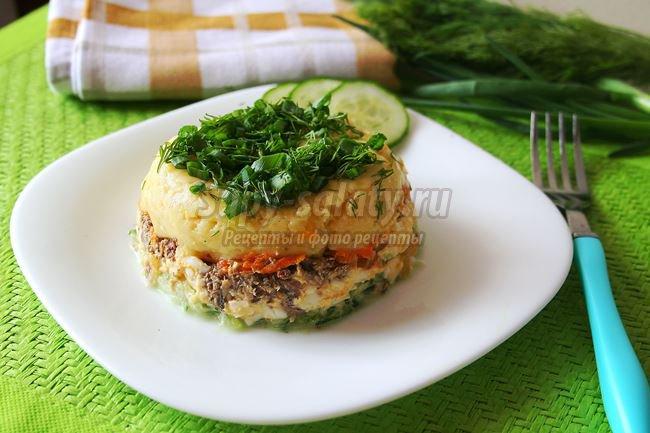Салат со шпротами «весенний»