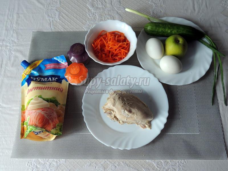 Слоеный салат с курицей рецепт с фото