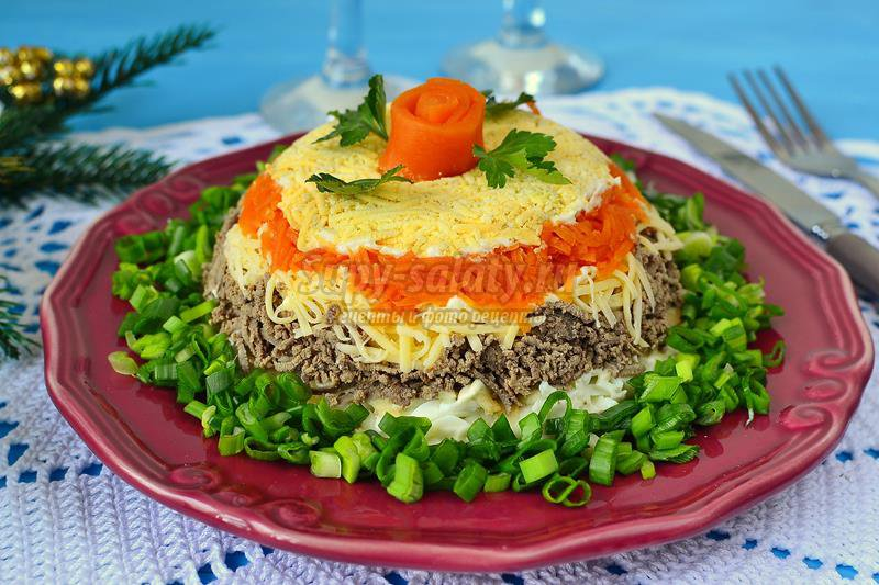 Слоеные салаты рецепты с пошаговым приготовлением фото
