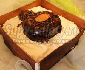 Необычный торт Коньяк в коробке