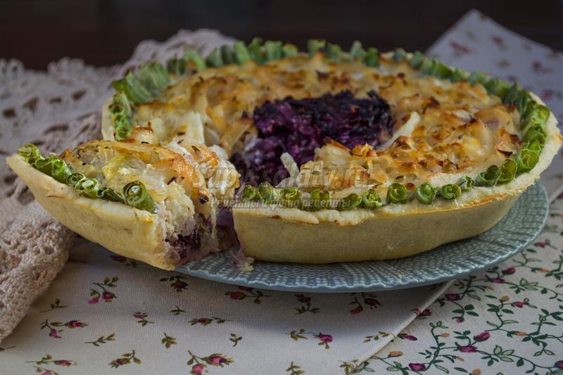 Бездрожжевой пирог с капустой рецепт фото