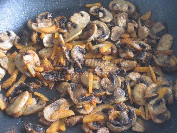 Овощная запеканка с грибами