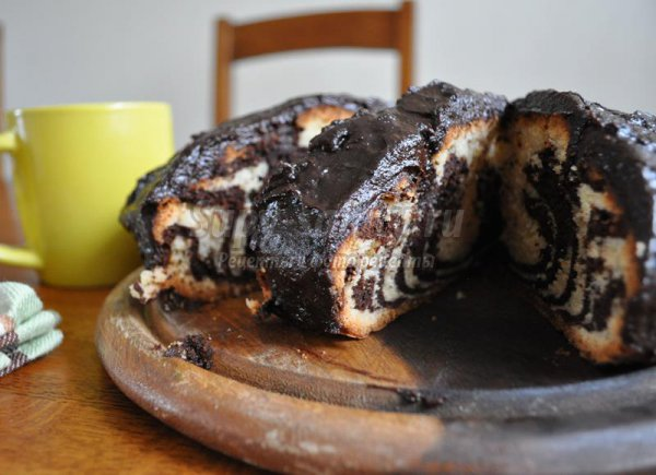 Постный торт Зебра