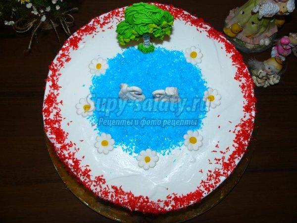 Праздничный торт Лебеди