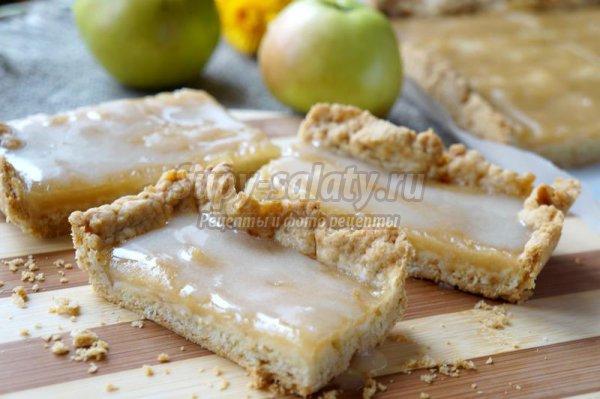 Тарт яблочный с молочной помадкой