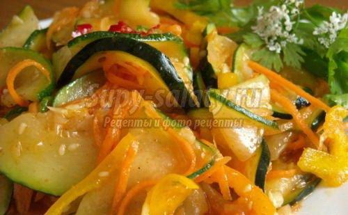 Лучшие салаты на зиму из кабачков