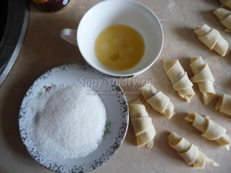 Сахарные рогалики рецепт с фото