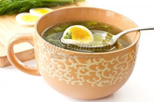Зеленый борщ с щавелем и яйцом - вкусно и полезно