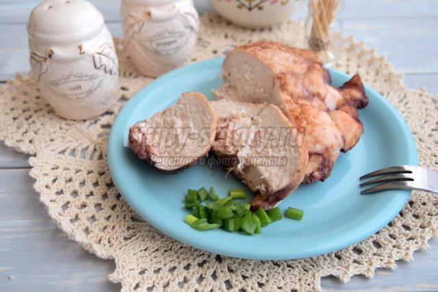 куриное филе в винном маринаде