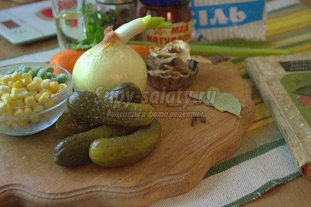 салаты с горошком и огурцами рецепты с фото