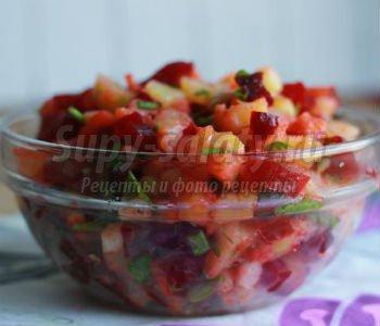 овощной салат со свеклой и картофелем
