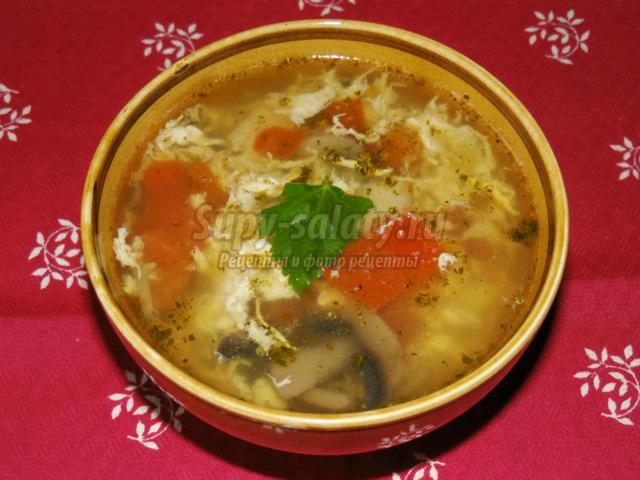 Рецепт супа из помидор и яиц