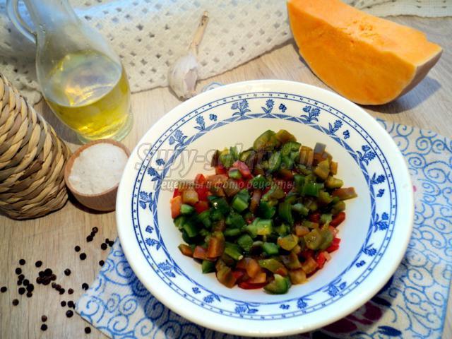 тыквенная икра с овощами