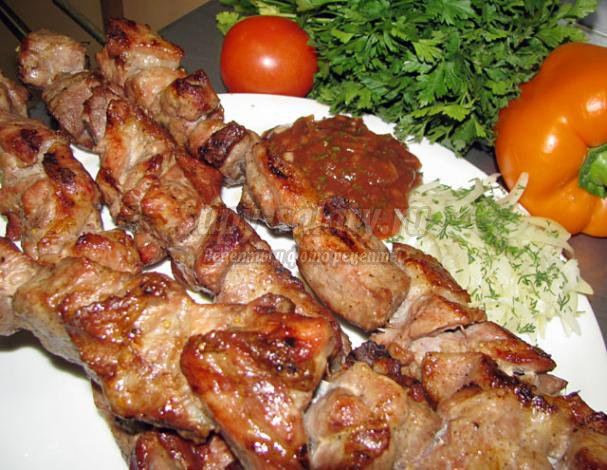 шашлык из свинины с уксусом: лучшие рецепты с фото