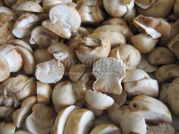 Запеканка с грибами и макаронами