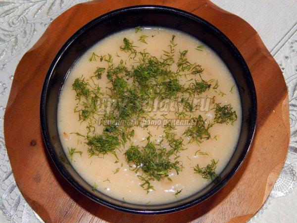 Постный овощной крем-суп с фасолью