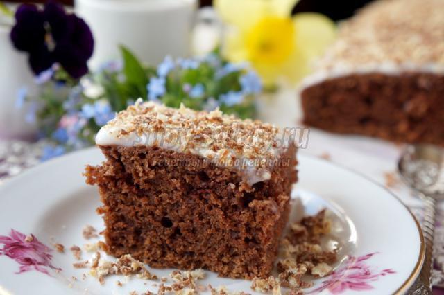 шоколадный пирог на растительном масле