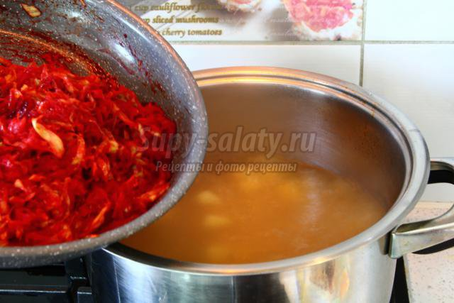Рецепт пошагово борщ