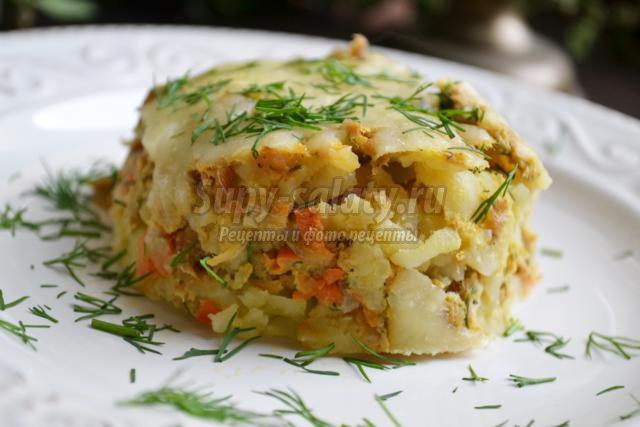 Рецепты картофельной запеканки с фаршем в мультиварке