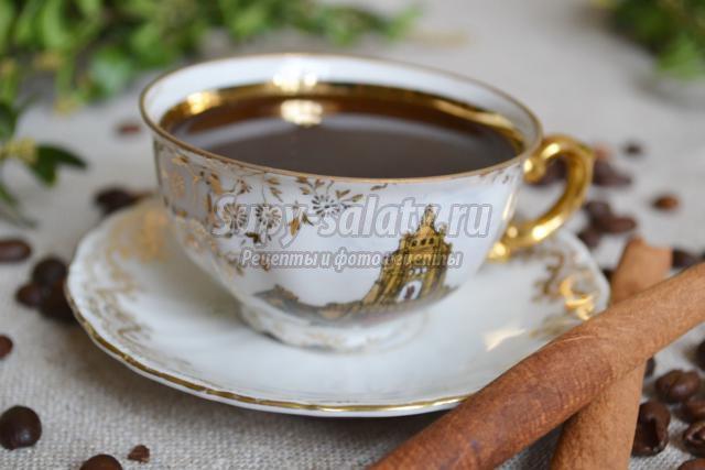 кофе с мускатным орехом и мёдом