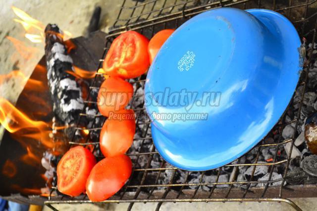 мясо на гриле в дижонской горчице с грибами