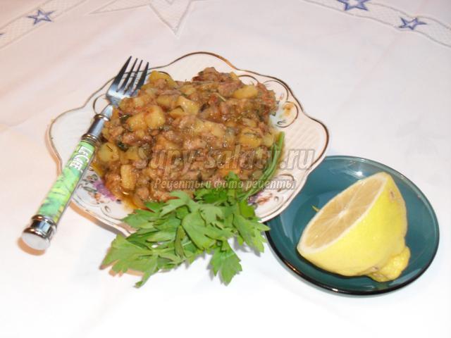 Рагу с фаршем в мультиварке рецепты пошагово