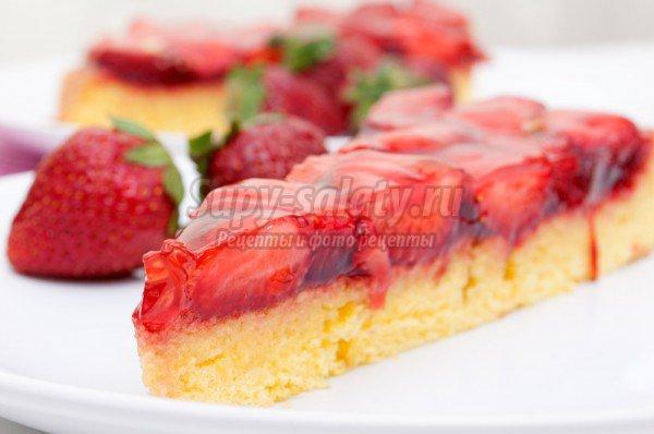 Открытый пирог с клубникой – вкусно и просто