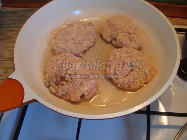 Зразы мясные с грибами пошаговый рецепт с фото