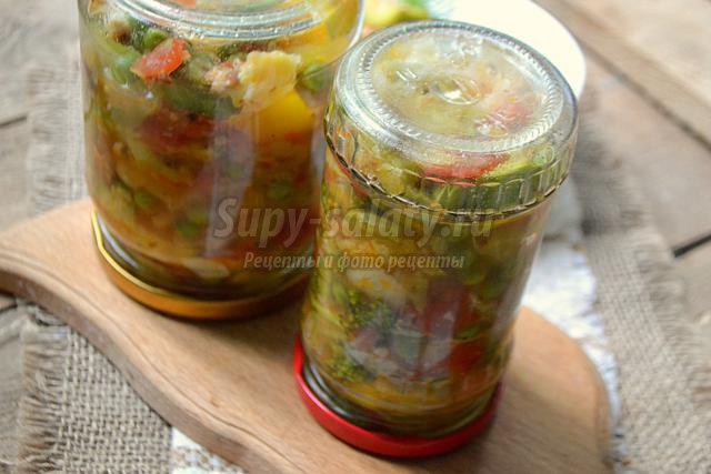 солянка из капусты с горошком на зиму