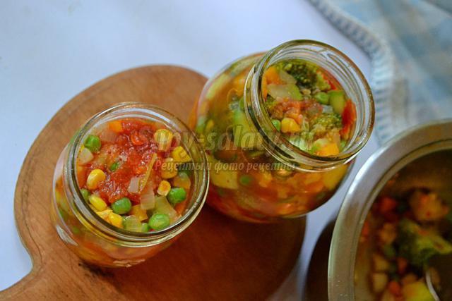 овощная заготовка для супа на зиму