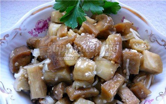 баклажаны на зиму рецепт с фото под грибы