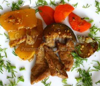 говядина с овощами в мультиварке