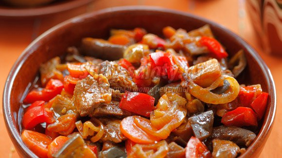 Рагу из баклажанов с мясом рецепт с фото