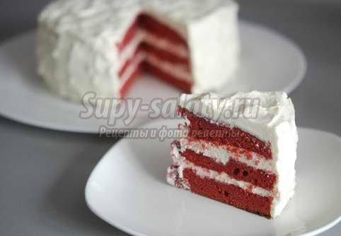 Торт «Красный бархат» - изысканный рецепт