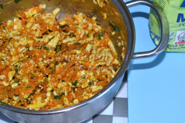 морковные котлеты с адыгейским сыром