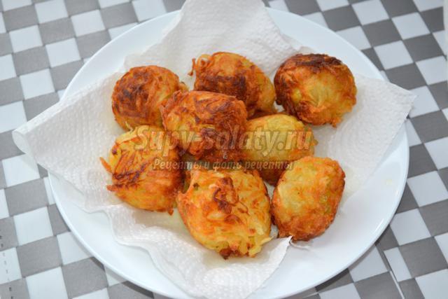 вегетарианские картофельные шарики с сыром