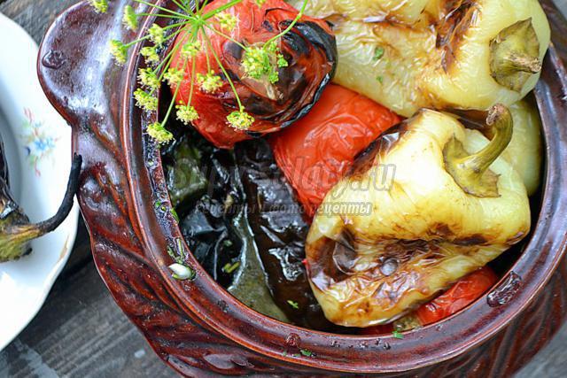 запеченные овощи на решетке