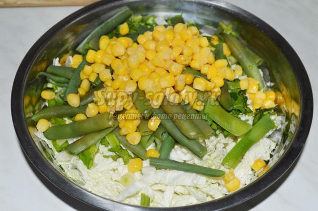 салат с фасолью рецепт с капустой