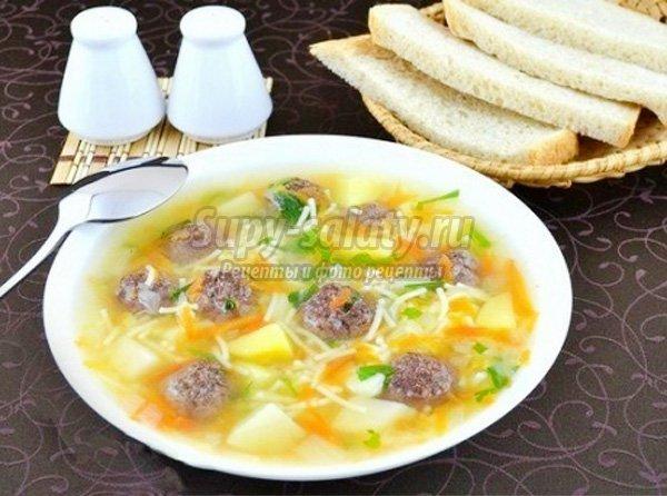 суп с фрикадельками: лучшие рецепты с фото