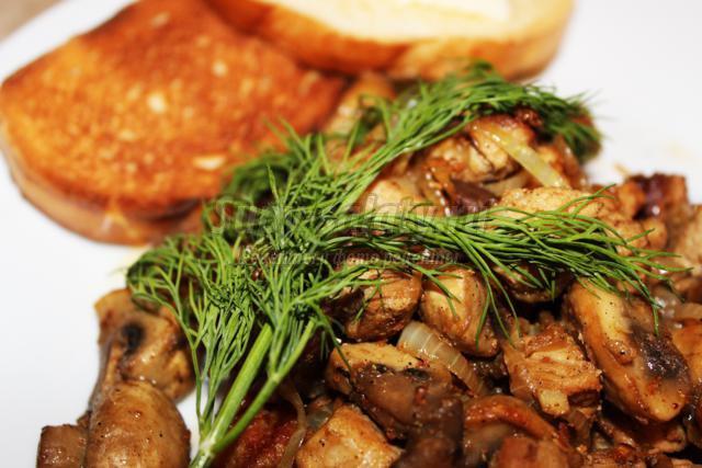 Рецепт постных блинчиков с грибами