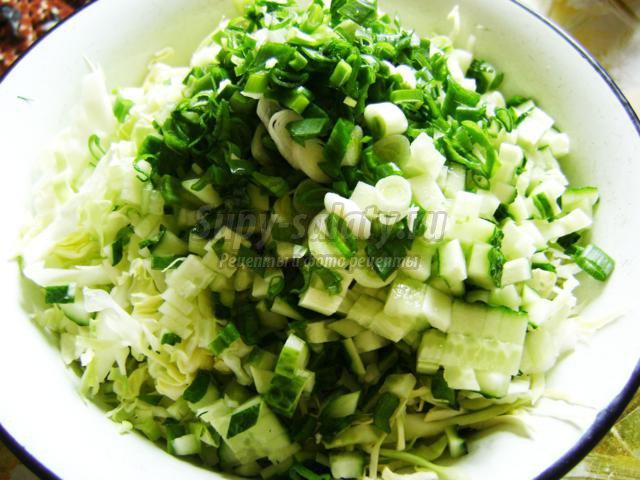 классический салат из капусты и огурцов