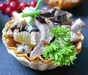 салат по французски рецепт с грибами с фото