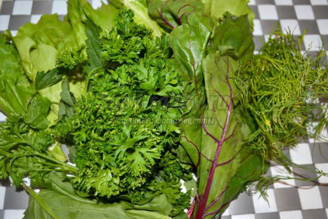вегетарианские котлеты из свежей зелени