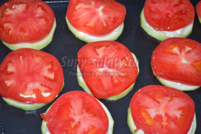 Запеченные кабачки с помидорами и сыром рецепт