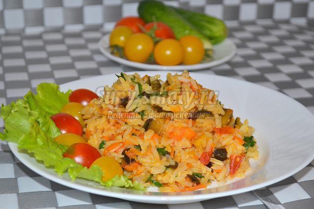 Плов с помидорами пошаговый рецепт