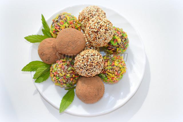 вегетарианские финиковые конфеты с грецким орехом