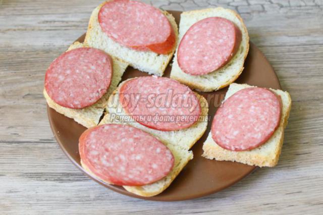 Как сделать бутерброд без колбасы 240