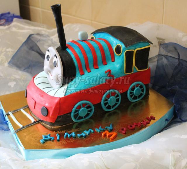 Сделать торт паровозик фото
