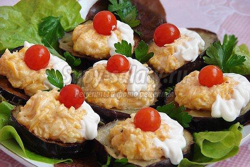 Праздничные закуски из баклажанов. Лучшие рецепты с фото